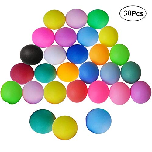 Mengger Tischtennisbälle Training Tischtennis Ball 30 Stück Mischfarben Tischtennis-Bälle Tischtennis-Set Dedicated Bälle Trainings Ping Pong-Bälle für Tischtennis-Spieler baelle Ping Pong Bälle