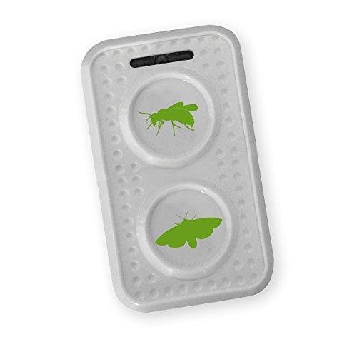 ISOTRONIC mobiler Wespenschreck/Mottenschreck mit Ultraschall für Scheune, Garten, Auto und Garage, Besonders Hohe Töne, Wechselfrequenz Gegen Gewöhnungseffekt, batteriebetrieben (1)