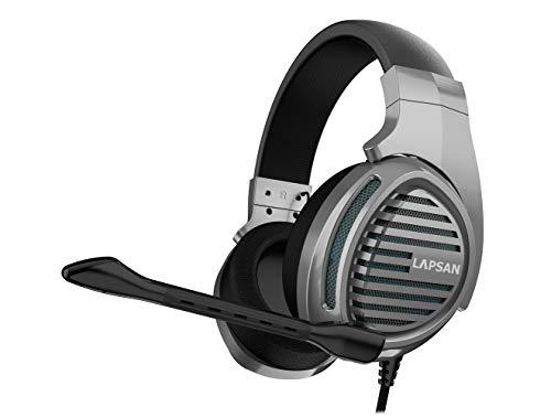 LUPSAN Gaming Headset für Ps4 Pc Xbox One, Gamer Kopfhörer mit Mikrofon für Nintendo Switch Playstation 4 Xbox One S X Computer Laptop Skype - Grau