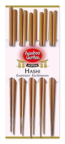 Bamboo Garden Hashi - Ess-Stäbchen Sushi-Stäbchen Essstäbchen aus Holz, Sushi Besteck, perfekt für asiatische Gerichte, Menge: 2 x 10 Stück