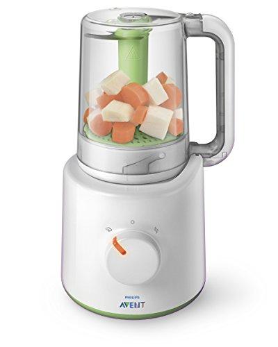 Philips Avent SCF870/20 2-in-1 Babynahrungszubereiter (Dampfgarer und Mixer)