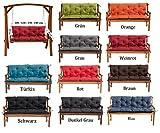 MH Gartenbankauflage Bankauflage Bankkissen Sitzkissen 100 x 60 x 50 cm Polsterauflage Sitzpolster (grün)