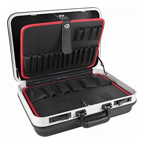 STIER Werkzeugkoffer Basic leer   ABS-Kunststoff Kofferschale   stabil & schlagfest   Tragkraft 15 kg   30 große Werkzeugtaschen I Abschließbar mit 2 Schlüsseln  