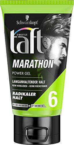 Schwarzkopf 3 Wetter Taft Power Gel, Marathon radikal Starker Halt 6, 5er Pack (5 x 150 ml)