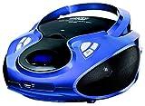CD-Player | Tragbares Stereo Radio | Kinder Radio | Stereo Radio | Stereoanlage | USB | CD / MP3 Player | Radio | Kopfhöreranschluss | AUX IN | LCD-Display | Batterie sowie Strombetrieb | (Blau)