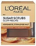 L'Oreal Paris Sugar Scrubs Glow Gesichtspeeling, mit Zucker und Traubenkern-Öl, für eine glatte und strahlende Haut, 50 ml