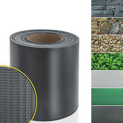 casa pura Sichtschutzstreifen PVC | Sichtschutzfolie Gartenzaun oder Balkon | inkl. 20 Befestigungsclips | für Einzel- und Doppelstabmatten geeignet | 19 cm x 35 m | einfarbig oder mit Motiv