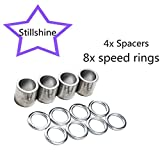 Bearing spacers and speed rings für skateboard longboard mountainboard truck