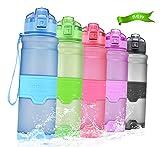 Temfly Trinkflasche - Trinkflasche Kinder - 500ml/700ml/1l - BPA Frei & Sport Wasserflasche Auslaufs (1000-Blau, 1000ml)