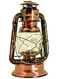 Original DIETZ Sturmlaterne WIZARD, große Petroleumlampe, altdeutsche Kupferlackierung, Höhe 29,2 cm