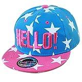 THENICE Kind Hip-Hop Cap Baseball Kappe Hut (Star azurblau )