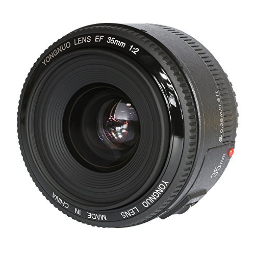 YONGNUO YN35 35mm F2.0 Weitwinkelobjektiv Große Blende Automatische manuelle Scharfeinstellung AF MF für Nikon DSLR Kameras + WINGONEER Blitzdiffusor