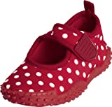 Playshoes Aquaschuhe, Badeschuhe Punkte mit höchstem UV-Schutz nach Standard 801 174776, Mädchen Aqua Schuhe, Rot (original 900), EU 22/23