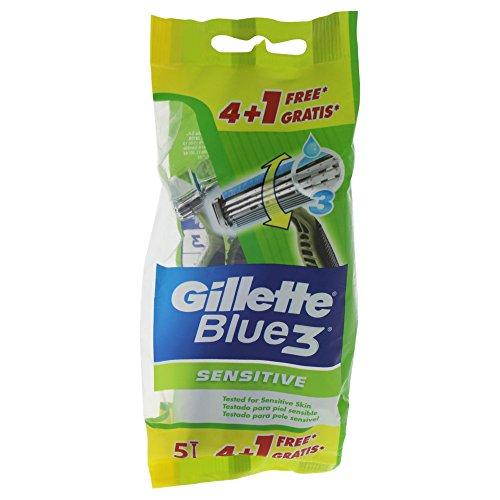 Gillette Blue3Sensitive Herren Einweg Rasierer–4Rasierer