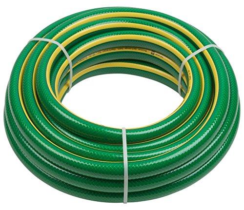 Meister Schlauch Kreuzgewebe - Elastisch - Abriebfest - Trittfest / Gartenschlauch aus Erst-PVC / Wasserschlauch / Gewebeschlauch UV-beständig für draußen