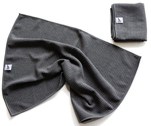 2er Set Hunde-Handtuch spezielles Schmutz-Tuch Microfaser sehr saugfähig sehr geruchsarm schnell trocknend platzsparend