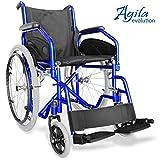 AIESI Klapprollstuhl leichter faltbarer selbstfahrender - Rollstuhl für ältere und behinderte menschen AGILA EVOLUTION  Ausziehbare armlehnen und fußstützen  Sicherheitsgurt  24 Monate Garantie