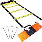 gipfelsport Koordinationsleiter Trainingsleiter Set, 6m mit Tasche und Heringen   Geschwindigkeitsleiter   Agility Speed Ladder für Fussball, Fitness, Sport, Handball, Football   + Gratis eBook