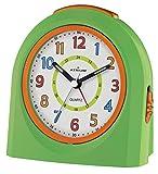ATRIUM Wecker analog grün / orange ohne Ticken mit Licht und Snooze, Schlummerfunktion Quarz-Wecker A921-3