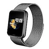 Lintelek Smartwatch HR NEU Smart Watch Health Watch Fitness Armband Pulsuhren Sportuhr Farbbildschirm Blutdruck Vibrationsalarm kompatibel mit iPhone Android Fitness Tracker für Samsung Gift