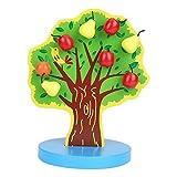 Zerodis Holz Magnetischen Obst Apfelbaum Math Puzzle DIY Rollenspiel Pädagogisches Spielzeug Früherziehung Geschenk für Kinder Kleinkinder