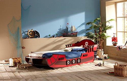 Piratenbett Huck 90*200 Seeräuber Schiff Boot Kinderbett Jugendbett Jugendliege Bettliege Einzelbett Bett Jugendzimmer Kinderzimmer Spielbett