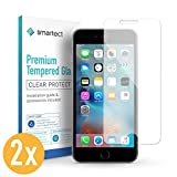 smartect Panzerglas kompatibel mit iPhone 6 / 6s [2 Stück] - Displayschutz mit 9H Härte - Blasenfreie Schutzfolie - Anti Fingerprint Panzerglasfolie