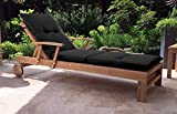 GRASEKAMP Qualität seit 1972 Auflage Gartenliege Liegestuhl Sonnenliege Relaxliege Anthrazit