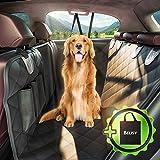 BELISY Universal Autoschondecke für Hunde - 145x137cm - Auto Hundedecke für Rückbank & Kofferraum