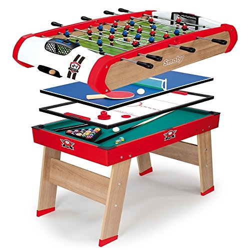 Smoby 640001 - Multifunktions Tischfußball Powerplay 4-in-1