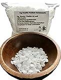 1kg Paraffin Premium Kerzenwachs rein weiß | vollraffiniertres Qualitätswachs | Granulat / Pastillen | 54/56 | Paraffin-Wachs | für Kerzen, Basteln, Feuer ... | deutsche Marke molinoRC