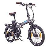 "NCM London (+) E-Bike, E-Faltrad, 250W, 36V 15Ah/19Ah • 540Wh/684Wh Akku, 20"" Zoll (15Ah Anthrazit)"