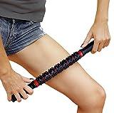 Faszienroller mit  Griff – Triggerpunkt Massage Stick zur Muskelentspannung & Muskelkater Linderung – Massageroller Stab zur Tiefengewebsmassage & Schmerzlinderung (Rot mit Noppen)
