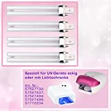 N&BF 8er Set 9W UV Ersatzröhren für Lichthärtungsgeräte | Ersatz Lampen für UV Geräte eckig & Lichtschranke | Lighttube Röhren Aushärtelampe | Zur Gelnägel Maniküre Zuhause & im Nagelstudio einsetzbar