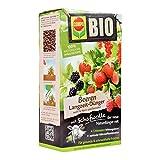 COMPO BIO Beeren Langzeit-Dünger mit Schafwolle, einzigartiger, rein organischer Naturdünger für alle Beerenpflanzen und -sträucher, sowie Kern- und Steinobst