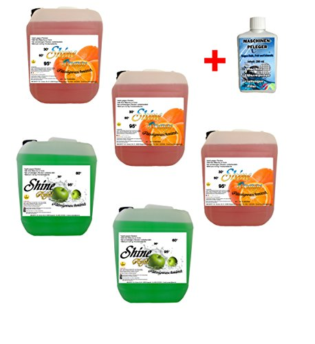5x 5 Ltr. Set 2x Apfel / 3x Orange + MA Flüssigwaschmittel Waschmittel Waschgel PE 1 € / Ltr.