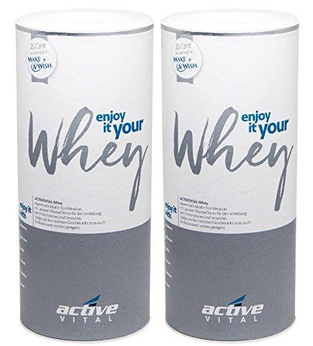 Whey-Protein-Pulver ACTIVEVITAL 900g Neutral aus Deutschland