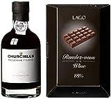 Geschenkset 'Rendez-Vou's mit Churchill's Reserve Port (1 x 0.2 l) und Schokolade (1 x 0.09 kg)