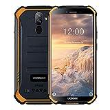 DOOGEE S40 Outdoor Handy 4G Dual SIM 3GB+32GB, IP68 /IP69K Wasserdicht Smartphone ohne Vertrag Android 9.0, 4650mAh Akku 5.5 Zoll Quad-core, 8MP+5MP Kamera, NFC Fingerabdruck Gesicht ID - Orange