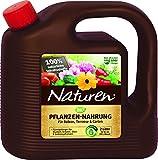 Naturen Bio Pflanzen-Nahrung, Rein pflanzlicher, veganer Universal-Flüssigdünger für Zierpflanzen, Obst & -Gemüse im Kübel auf Balkon, Terrasse und Garten, 2 Liter Kanister