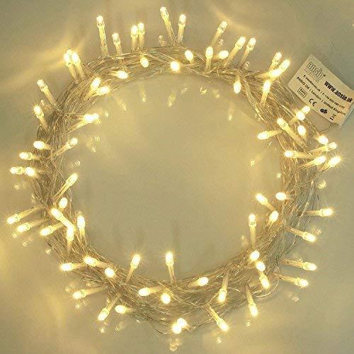 Lichterkette 100 LED Warmweiß Innen Energien betriebene LED feenhafte Lichter Ideal für Weihnachtsbaum, festliche, Hochzeits/Geburtstagsfeier Dekorationen LED Schnur Lichter