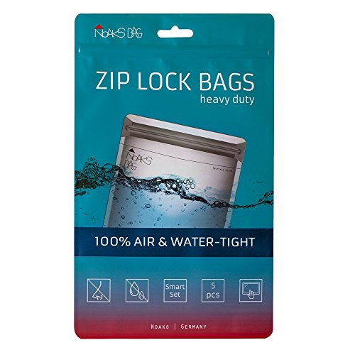 Noaks Bag Smart Set | 5 x - Schutzhülle [1 x XS / 2 x S / 2 x M] | ZIP Beutel - 100% wasserdicht, geruchsdicht & sicher