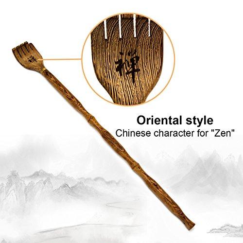 Rückenkratzer Holz AKUNSZ Kratzhand Rückenkratzer für Rücken ca. 43 cm - Massagegerät Körper zum Rücken Kratzen