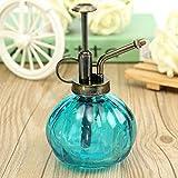 Wuudi Vintage Kleine Kürbis-Gießkanne Glasflasche Pflanznebel Flasche Gartenwerkzeug für Pflanzen Bonsai Blumen blau