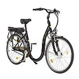 aktivelo Tiefeinsteiger E-Bike, Elektrofahrrad 26 Zoll, Fahrrad mit tiefem Einstieg, 250W, 9 Ah Samsung Akku, 7-Gänge, Leichter Alu-Rahmen, LCD-Display, LED-Beleuchtung, Stoßdämpfung