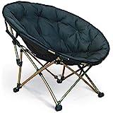 Moonchair, Deluxe Campingstuhl, gepolsterter bequemer Faltstuhl. Optimal für die ganze Familie. Echtes Highlight auch für Garten oder Terrasse. Tragkraft bis zu 120Kg. Farbe: schwarz