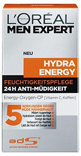 L'Oréal Men Expert Hydra Energy Anti Müdigkeit Feuchtigkeitspflege für Männer,1er Pack (1x 50ml)