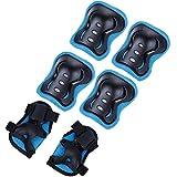 Zacro Kinder Knieschoner Set Ellenbogenschoner Handgelenkschoner Schutzausrüstungen Set für Skateboard Fahrradfahren Skateboard Reiten Outdoor