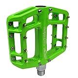 NC-17 Sudpin I Pro Aluminium Plattform Pedale/Fahrrad Pedale MTB/Mountainbike Pedal/BMX Pedal/Kugellager + Cr-Mo Achse/inklusiv Ersatzpins, Grün