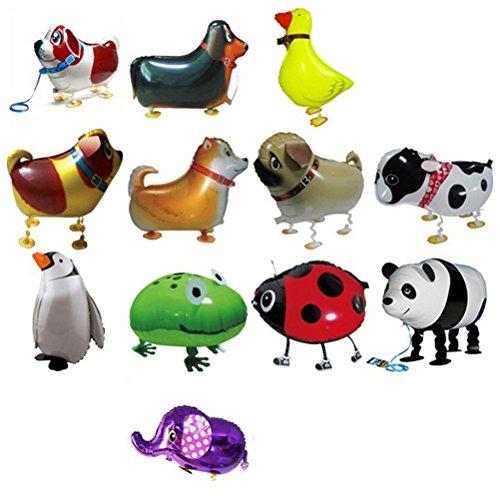 TOYMYTOY 12 Pcs Airwalker Luftballons gehende Ballons Tier Folienballon für Geburtstag Party Deko Kinder Spielzeug Geschenk
